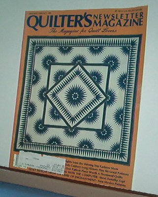 Magazine - Quilter's Newsletter - Quilting, Sewing, Patterns No.198 January 1988