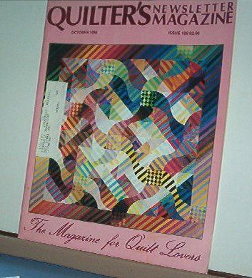 Magazine - Quilter's Newsletter - Quilting, Sewing, Patterns No.186 October 1986