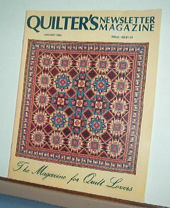 Magazine - Quilter's Newsletter - Quilting, Sewing, Patterns No 158 January 1984