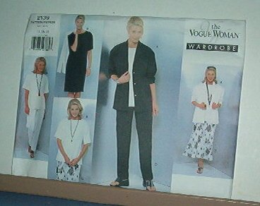 Sewing Pattern  Vogue 2139 Woman Wardrobe 5 pieces size 14 - 18