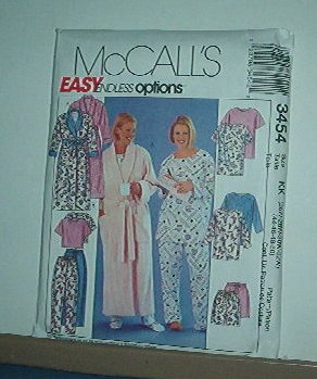 Sewing Pattern McCall's Pajamas and Robe 3454 Endless Options Size 18W-24W