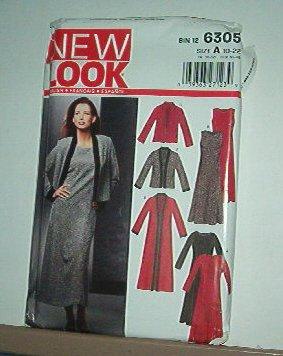 New Look Sewing Pattern 6305 Ensemble Dress Jacket coat Size 10 -22