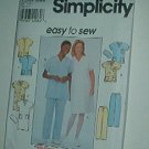 "Sewing Pattern Simplicity 8336 Nurses Scrubs Tops Bottoms Hats Size  30-38"" Bust"