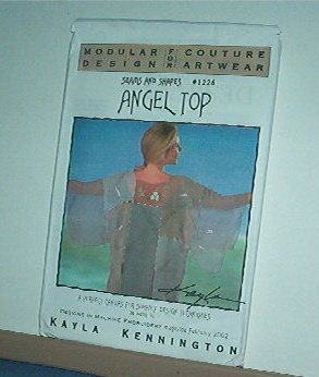 """Sewing Pattern Modular Design 1226, ANGEL TOO machine embroidery 30-45"""" bust"""
