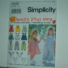 Sewing Pattern Simplicity Child 9008 Dress romper size 2 3 4