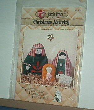 Sewing Pattern Christmas Nativity from Patch Press Applique for puppets or scene