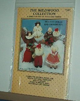 Sewing Pattern Wildwood Collection 127 Dressed up wooden dolls & ornaments