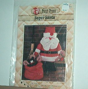 "Sewing Pattern Christmas 28"" Supper Santa & Bag of toys"