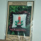 "Sewing Pattern Christmas Candle Pillow 15"" square by Calico Farms"