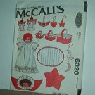 Sewing Pattern Christmas McCall's 6320 Angels, ornaments, baskets and pillow