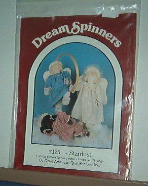 """Sewing Pattern, Dream Spinners Star just dolls 22"""" Angels & Clothes"""