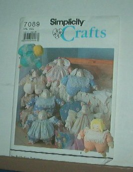 """Sewing Pattern, Simplicity 7089 Fat Animals and Doll, 17"""" & Clothes"""
