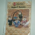 """Sewing Pattern Patch Press Bunny Family Soft Sculpture 12"""" and 9"""""""