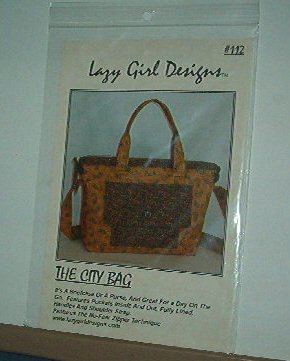 Sewing Pattern Lazy Girl Designs 112 City Bag Brief Case pockets 2 straps lined