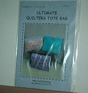 """Sewing Pattern Qulters Tote Bag 21""""H X 26""""W All quilters gear fits inside."""