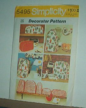 Sewing Pattern Simplicity 5495 Kitchen Appliance Covers 5 sizes