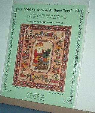 """Sewing Pattern Victorian Wall Quilt (66 X 76) or Medallion (26X36) Antique Toys 12"""" Blocks"""