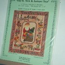"Sewing Pattern Victorian Wall Quilt (66 X 76) or Medallion (26X36) Antique Toys 12"" Blocks"