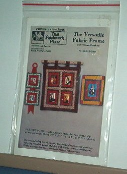 Sewing Pattern Quilted Frame fabric and wall handing Patchwork Place Nifty.
