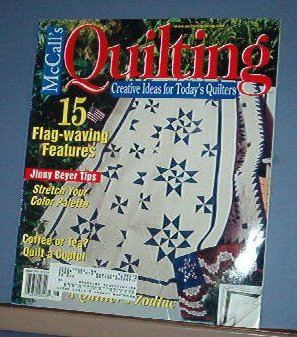 Magazine - McCall's Quilting August 2002 Fourth of July Patterns