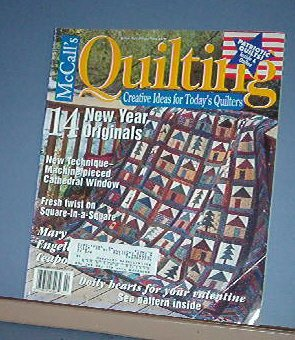 Magazine - McCall's  Quilting February 2002 Patriotic quilt and New Year originals Patterns
