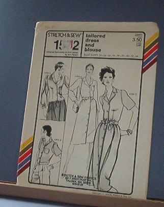 Stretch & Sew Sewing Pattern 1572 Tailored Dress and Blouse Sizes 28-44