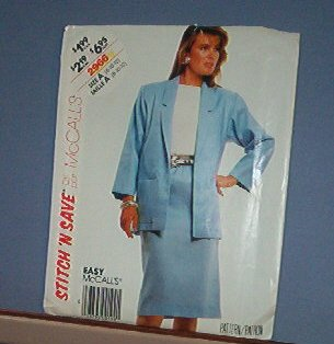 Sewing Pattern McCall's 2966 Skirt and Jacket Suit Size 8 10 12