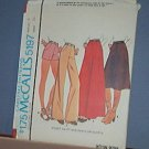 Sewing Pattern McCall's 5197 Pants, Shorts & Skirts Size 8  Waist 24""