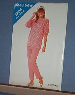 Butterick Sewing Pattern Butterick 5704 Topo and Pants Sizes Petite, Small & Medium