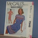 Sewing Pattern McCall's7946 Summer Dress, Size Small