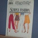 Sewing Pattern, Simplicity 9525 Three Kinds of Shorts and pants Size 6 - 14 Nice