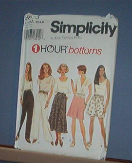 Sewing Pattern Simplicity 9873 Skirts and Pants Size XS, Sm & Med