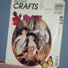 Sewing Pattern, McCall's 677 Ruffles Doll Lingerie & Shoes 22""