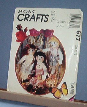 """Sewing Pattern, McCall's 677 Ruffles Doll Lingerie & Shoes 22"""""""