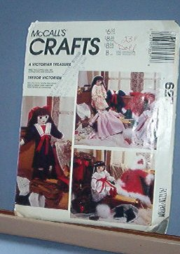 """Sewing Pattern, McCall's 627 Victorian Doll and Wardrobe (everything pictured) 22"""""""