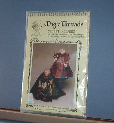"""Sewing Pattern Magic Threads SECRET KEEPERS 12"""" Doll by Julie McCullough"""