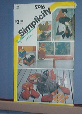 Sewing Pattern Simplicity 5746 Household Accessories as pictured