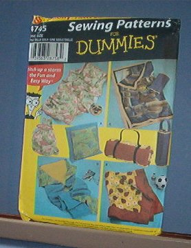Sewing Pattern Simplicity for Dummies Fleece Blanket in Pillow Bag