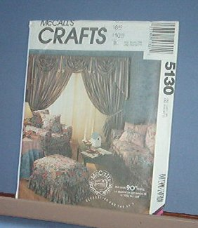 Sewing Pattern McCall's Crafts Decor Shabby Chic Bedroom Sitting Room