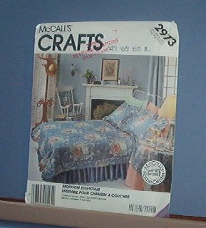 Sewing Pattern McCall's Crafts Bedroom Shams Bed cover skirt table cloth chair cover