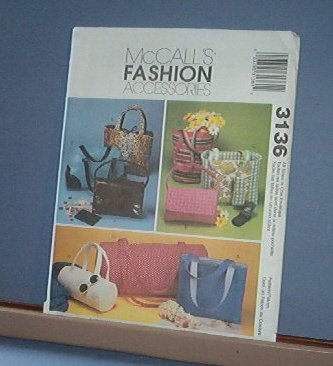 Sewing Pattern McCall's 3176 Bags, totes, sport, 8 kinds and easy
