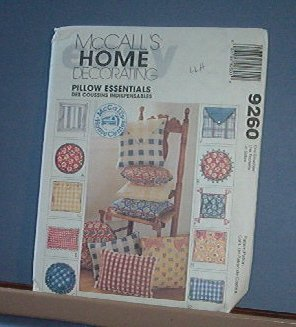 Sewing Pattern McCall's Pillow Essentials 10 styles, and easy