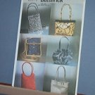 Sewing Pattern Butterick 6371 Six Fancy Purses, lined evening bags.  As pictured