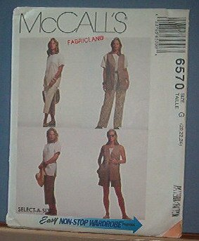 Sewing Pattern McCall's 6570 Vest, Top, Skirt, Pants & Shorts - Size 8 -24