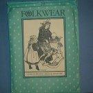 Sewing Pattern:  Old Folkwear hild's Prairie Dress & Pinafore Size   2- 10