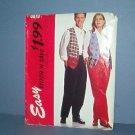 McCall's Sewing Pattern 9079 McCall's Pattern vest & pants Men's and women's, Xtra Small Thru Med