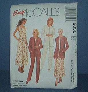 Sewing Pattern McCall's, 2050 Emsemble, top, skirt, pants, jacket. Size 12 - 16
