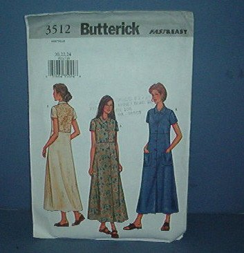Butterick Sewing Pattern Butterick 3512 Misses Petite Dress Sizes 8 -24