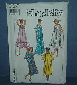 Sewing Pattern  Simplicity 8066 Loose Fitting Dress Muumuu Size Medium