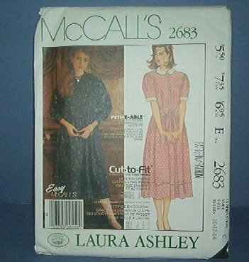 Sewing Pattern McCall's Easy, Laura Ashley, 2683 Size 10-12-14